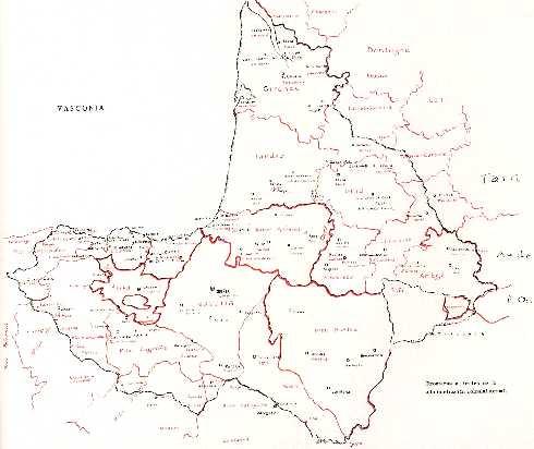 Mapa de Vasconia según Federico Krutwig