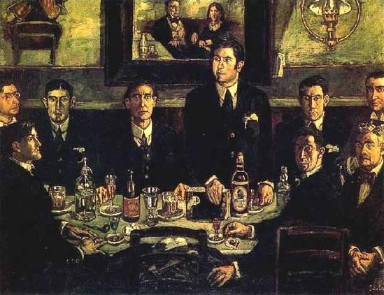 La tertulia del Café Pombo. José Gutiérrez Solana, 1920