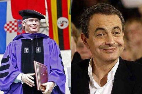 Baltasar Garzón y Zapatero sonrien aquí sin enseñar los dientes