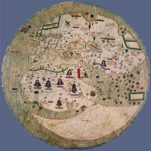 Mapa portulano circular (1450)