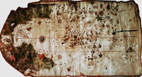 Mapa portulano atlántico de Juan de la Cosa (1500)