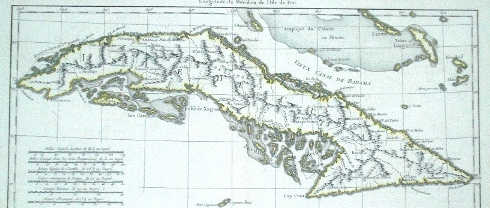 Carta de marear de la Isla de Cuba