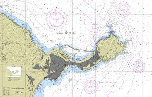 Carta marina de la Bahía de Ceuta