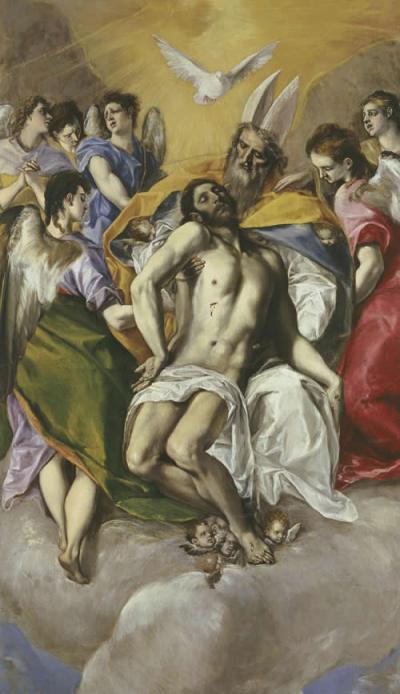 El Greco, Cristo en brazos del Padre eterno