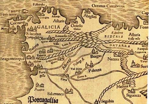Sebastian Münster, Cosmographia, 1544, Hispania