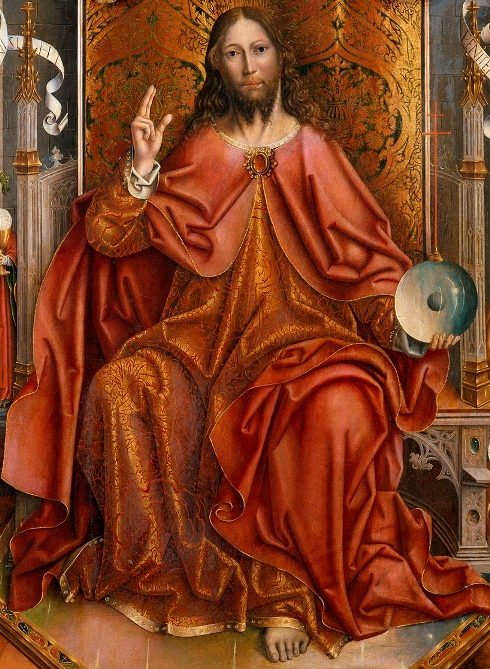 Fernando Gallego (c1440-1507), Cristo bendiciendo (fragmento)